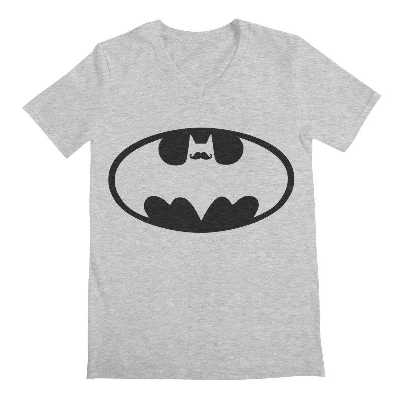 Bat-stache Men's V-Neck by ikado's Artist Shop