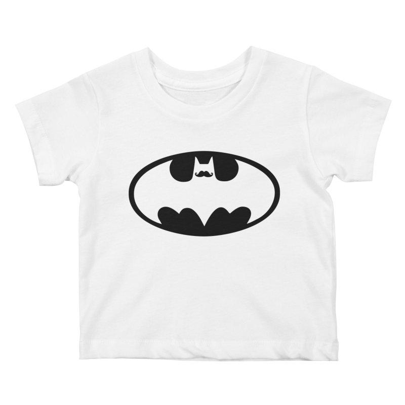 Bat-stache Kids Baby T-Shirt by ikado's Artist Shop
