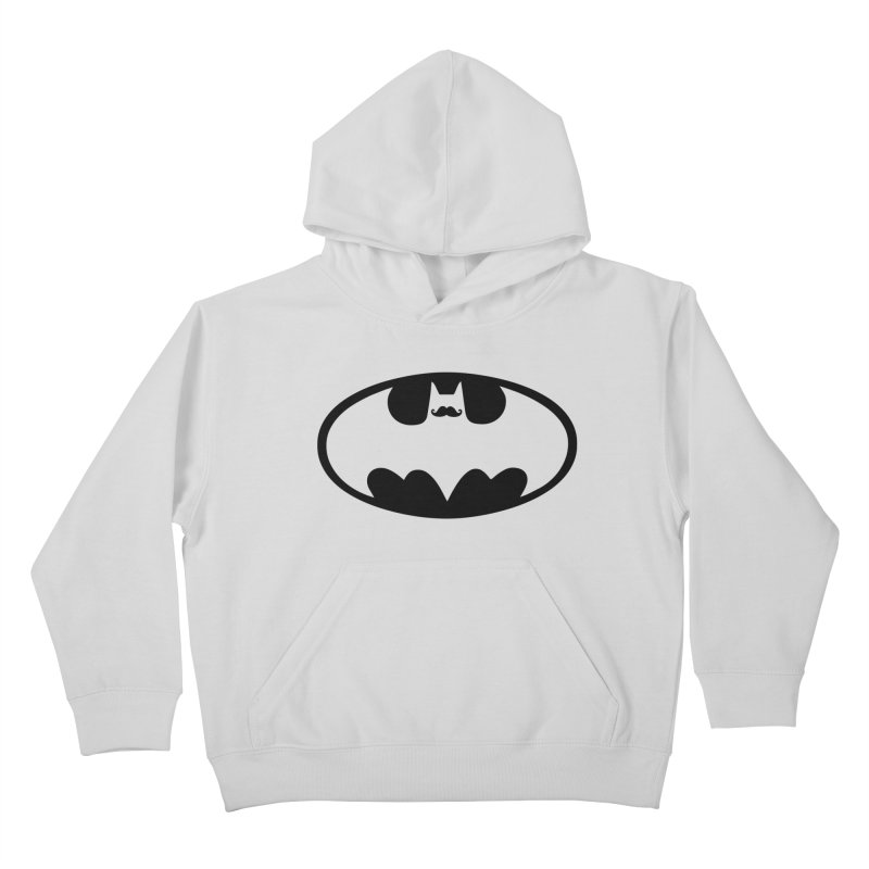 Bat-stache Kids Pullover Hoody by ikado's Artist Shop
