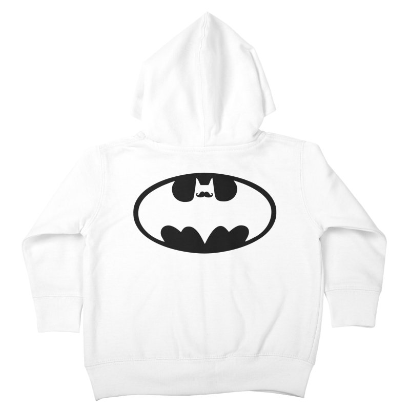 Bat-stache Kids Toddler Zip-Up Hoody by ikado's Artist Shop