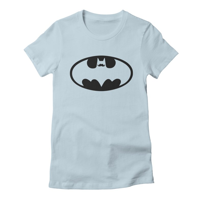 Bat-stache Women's Fitted T-Shirt by ikado's Artist Shop