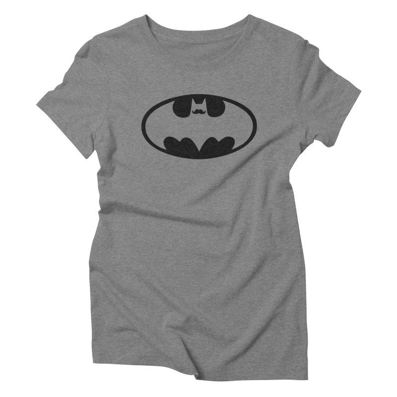 Bat-stache Women's Triblend T-shirt by ikado's Artist Shop