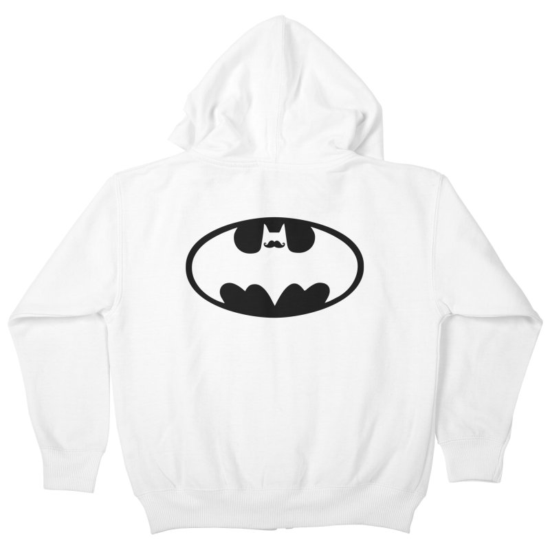 Bat-stache Kids Zip-Up Hoody by ikado's Artist Shop