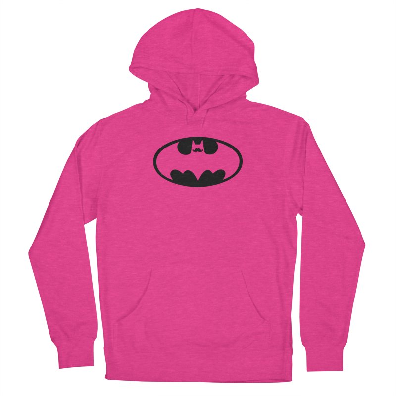 Bat-stache Men's French Terry Pullover Hoody by ikado's Artist Shop