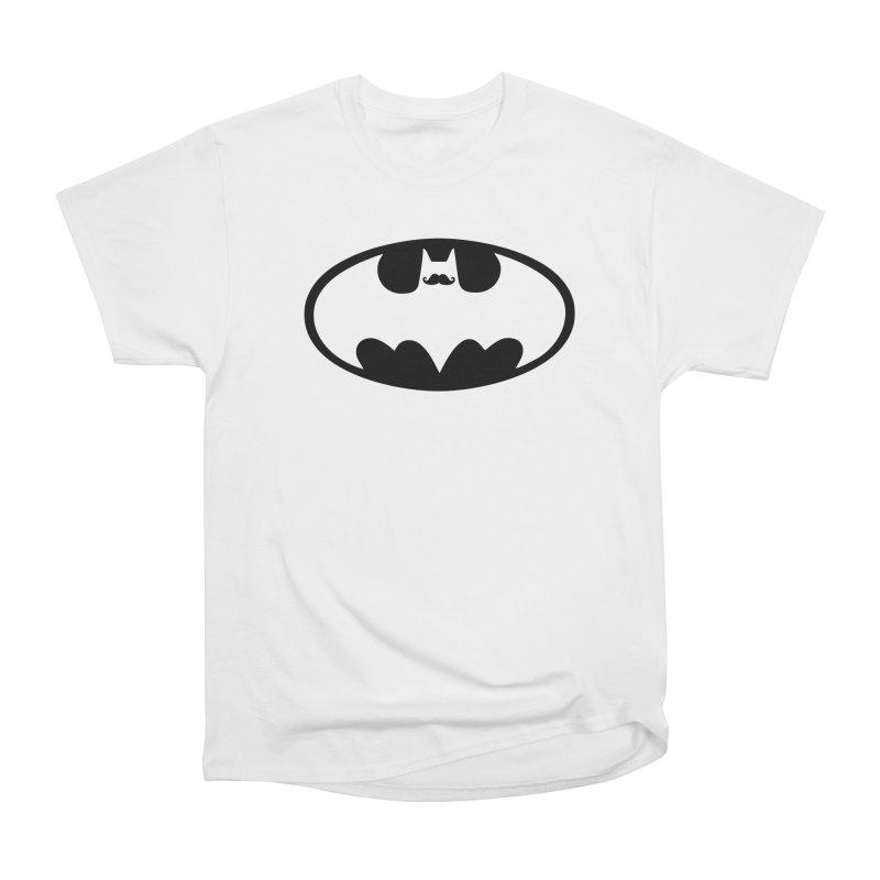 Bat-stache Women's Heavyweight Unisex T-Shirt by ikado's Artist Shop