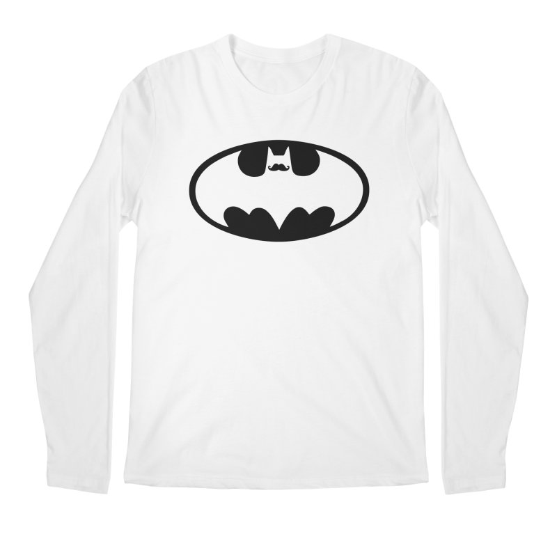 Bat-stache Men's Regular Longsleeve T-Shirt by ikado's Artist Shop
