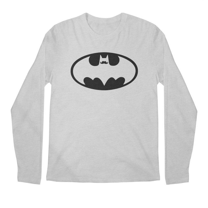 Bat-stache Men's Longsleeve T-Shirt by ikado's Artist Shop