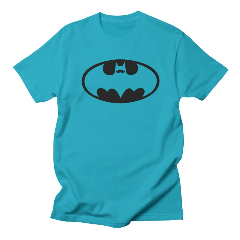 Bat-stache Men's T-Shirt by ikado's Artist Shop