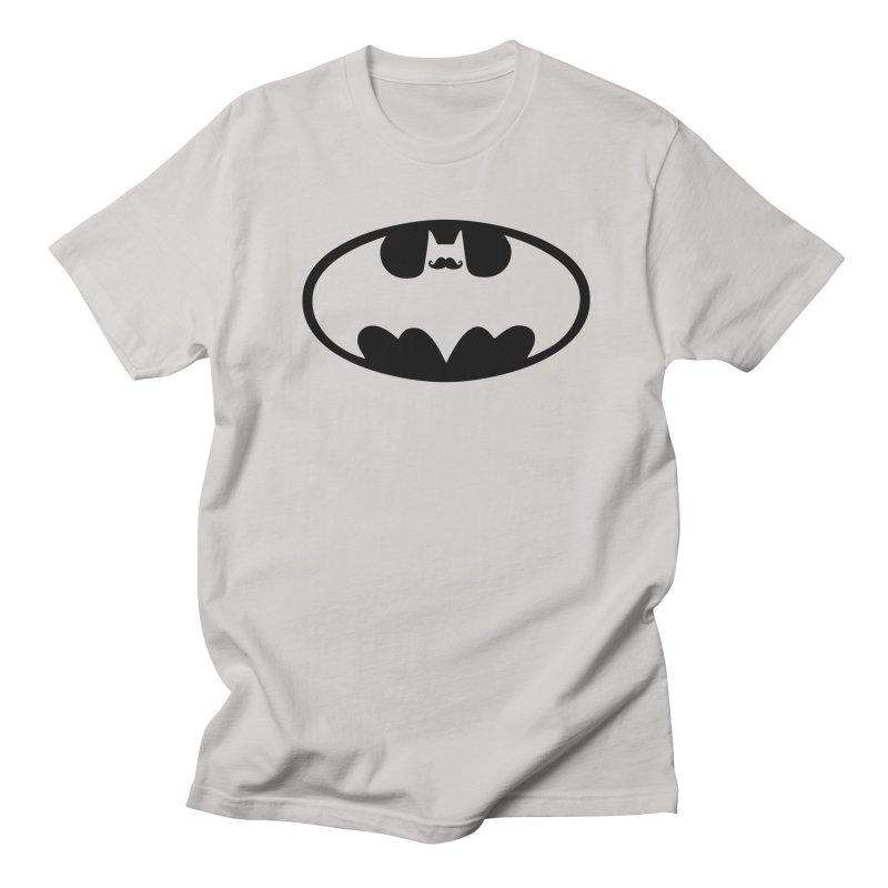 Bat-stache Men's Regular T-Shirt by ikado's Artist Shop
