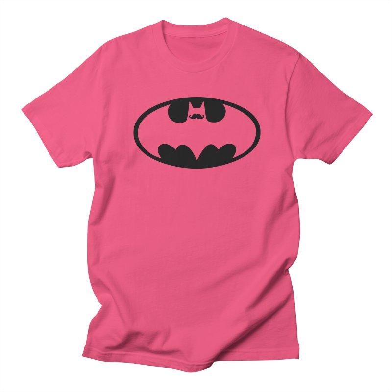 Bat-stache Men's T-Shirt by ikado's Artist Shop