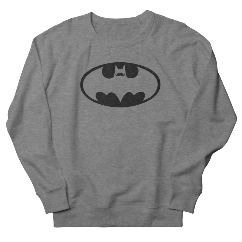 Bat-stache Men's French Terry Sweatshirt by ikado's Artist Shop