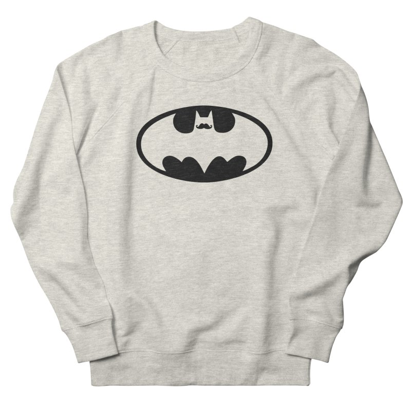 Bat-stache Men's French Terry Sweatshirt by ikado's Artist Shop