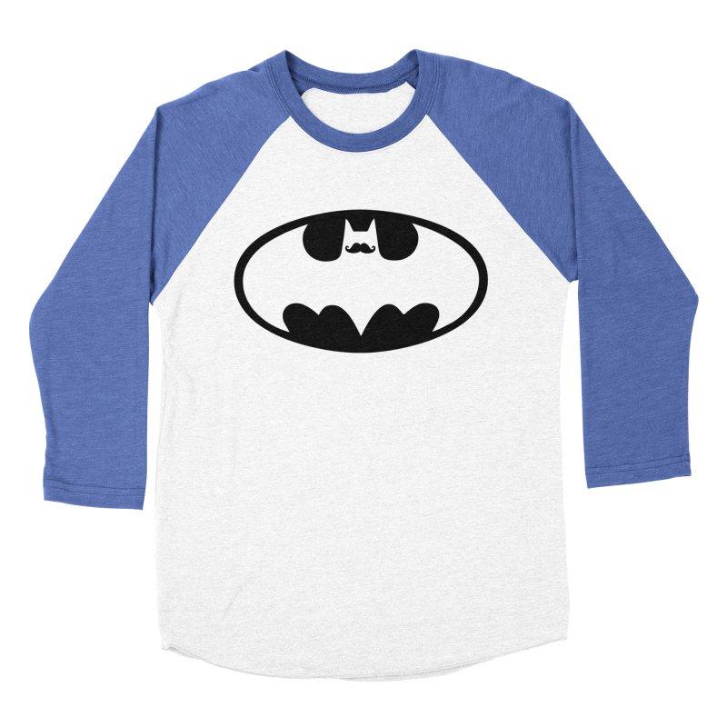 Bat-stache Men's Baseball Triblend Longsleeve T-Shirt by ikado's Artist Shop