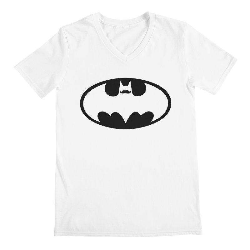 Bat-stache Men's Regular V-Neck by ikado's Artist Shop