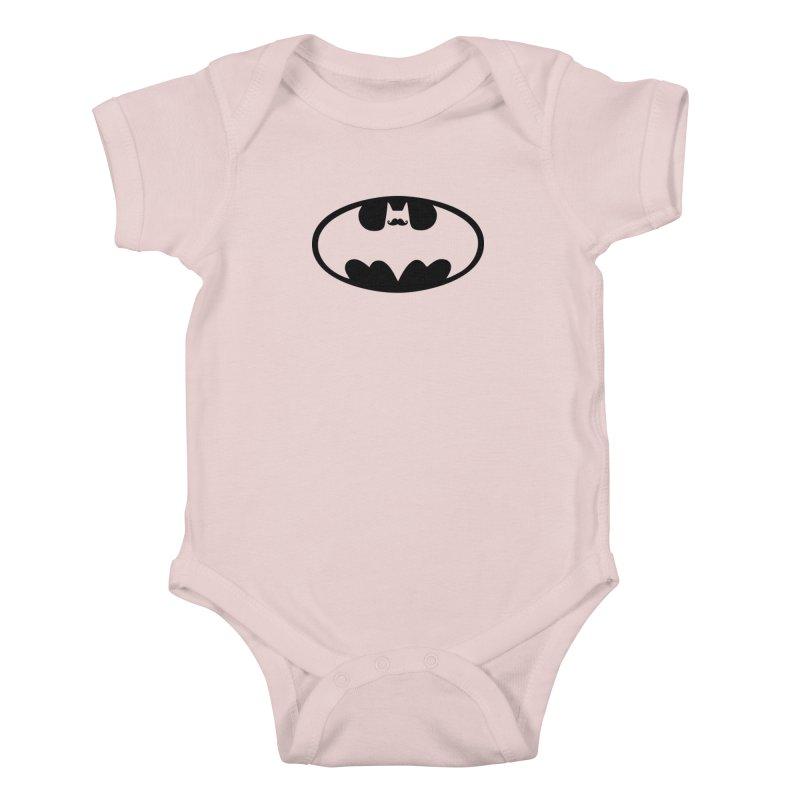 Bat-stache Kids Baby Bodysuit by ikado's Artist Shop