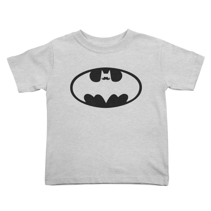 Bat-stache Kids Toddler T-Shirt by ikado's Artist Shop