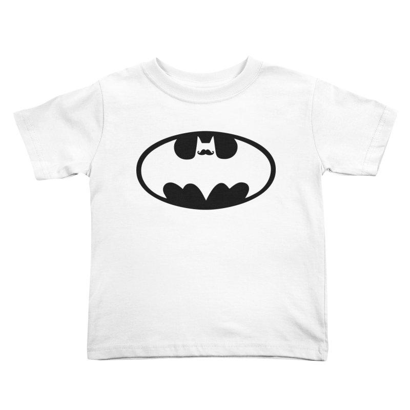 Bat-stache Kids Toddler T-Shirt by ikado's Artist Shop