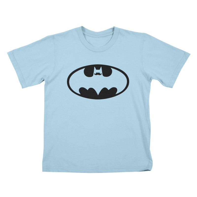 Bat-stache Kids T-Shirt by ikado's Artist Shop