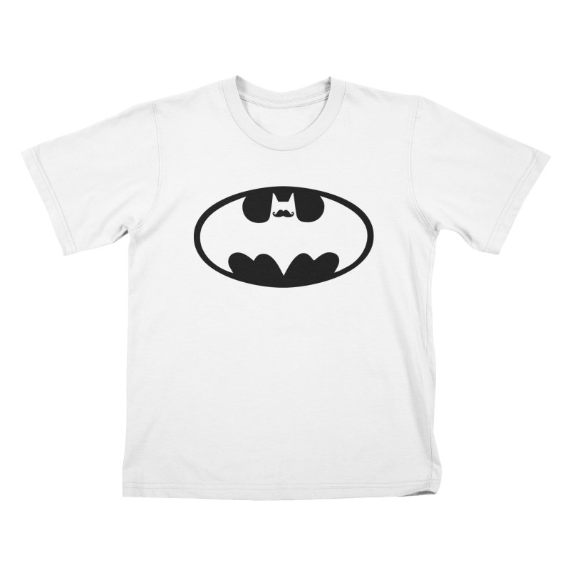 Bat-stache Kids T-Shirt by ikado's Artist Shop