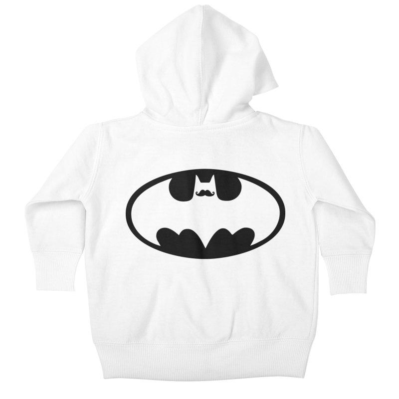 Bat-stache Kids Baby Zip-Up Hoody by ikado's Artist Shop