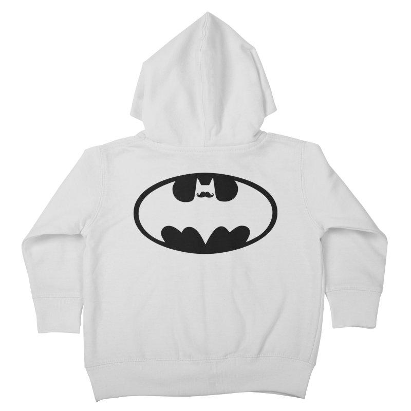 Bat-stache Kids Toddler Zip-Up Hoody by ikado's Artist Shop