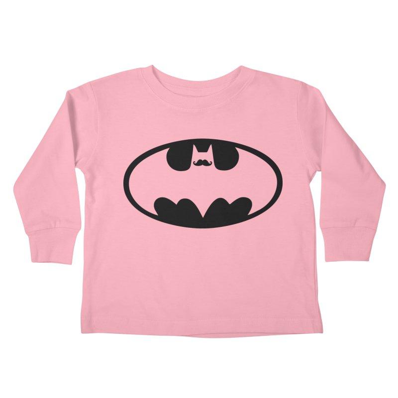 Bat-stache Kids Toddler Longsleeve T-Shirt by ikado's Artist Shop