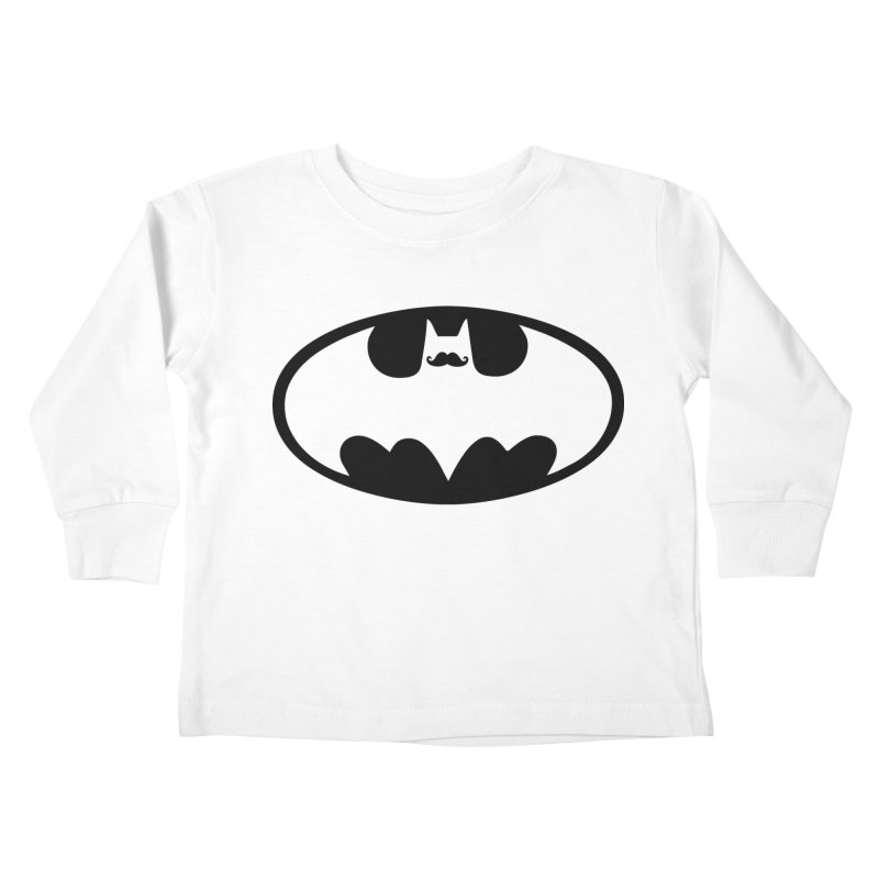 Bat-stache Kids Toddler Longsleeve T-Shirt by ikado's Artist Shop