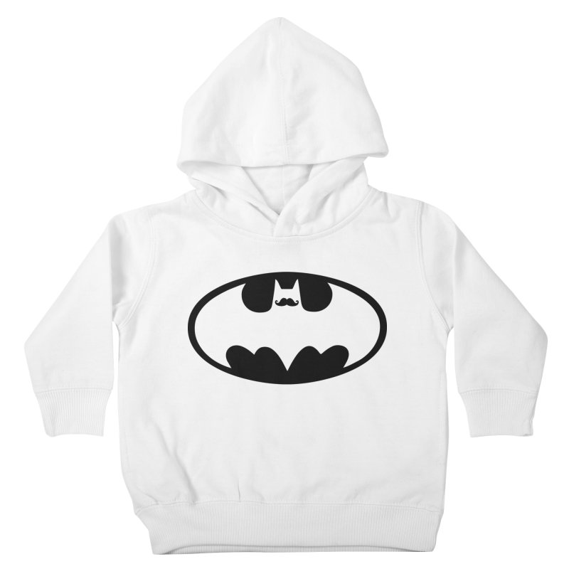 Bat-stache Kids Toddler Pullover Hoody by ikado's Artist Shop