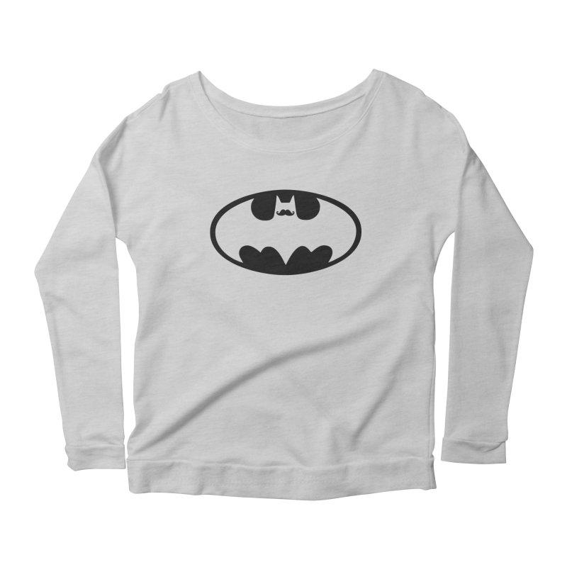 Bat-stache Women's Scoop Neck Longsleeve T-Shirt by ikado's Artist Shop