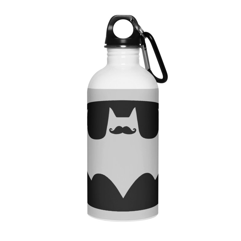 Bat-stache Accessories Water Bottle by ikado's Artist Shop