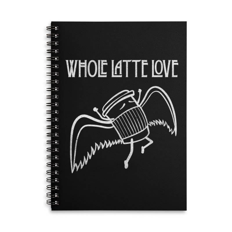Whole Latte Love Accessories Lined Spiral Notebook by ikado's Artist Shop