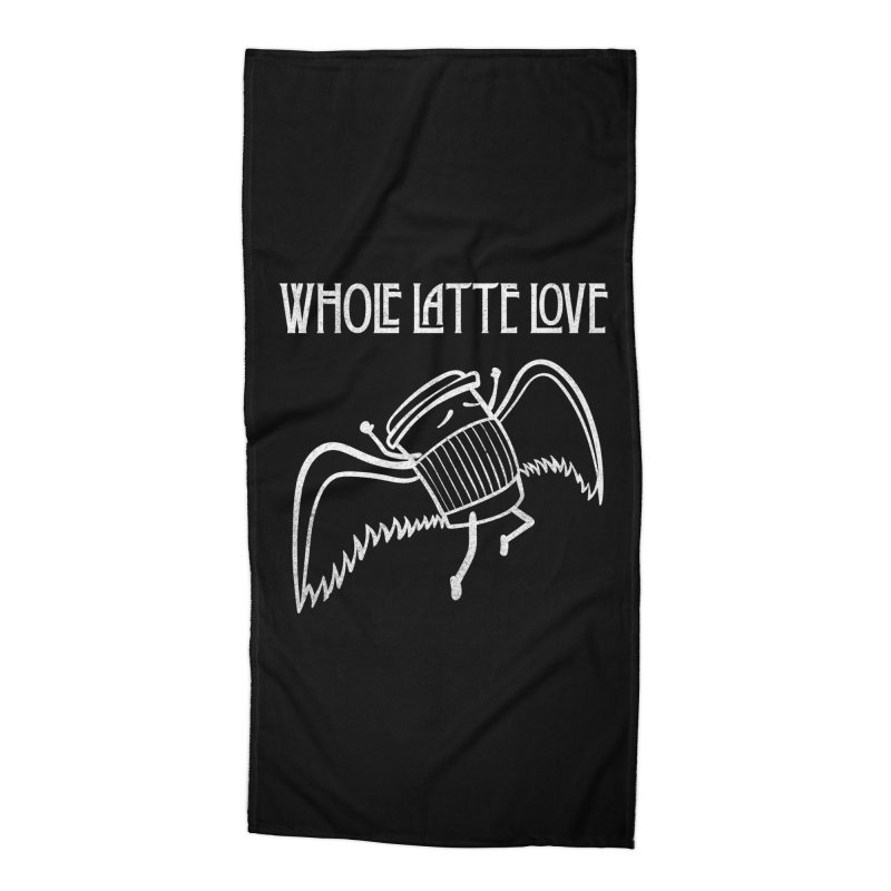 Whole Latte Love Accessories Beach Towel by ikado's Artist Shop