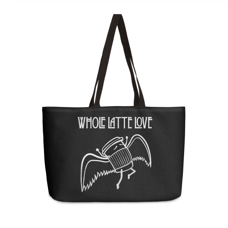 Whole Latte Love Accessories Weekender Bag Bag by ikado's Artist Shop