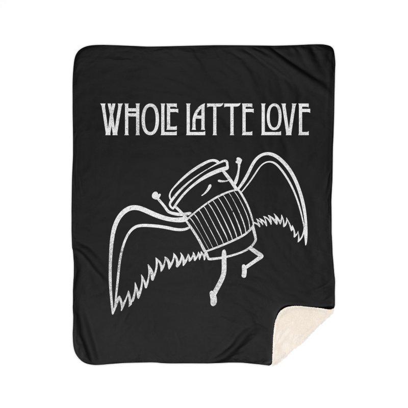Whole Latte Love Home Sherpa Blanket Blanket by ikado's Artist Shop