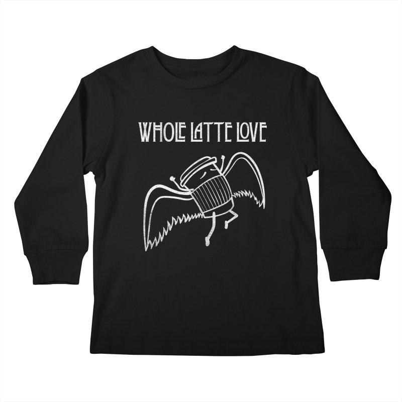 Whole Latte Love Kids Longsleeve T-Shirt by ikado's Artist Shop