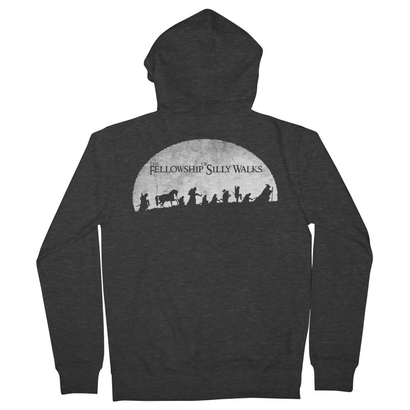 The Fellowship of Silly Walks Women's French Terry Zip-Up Hoody by ikado's Artist Shop