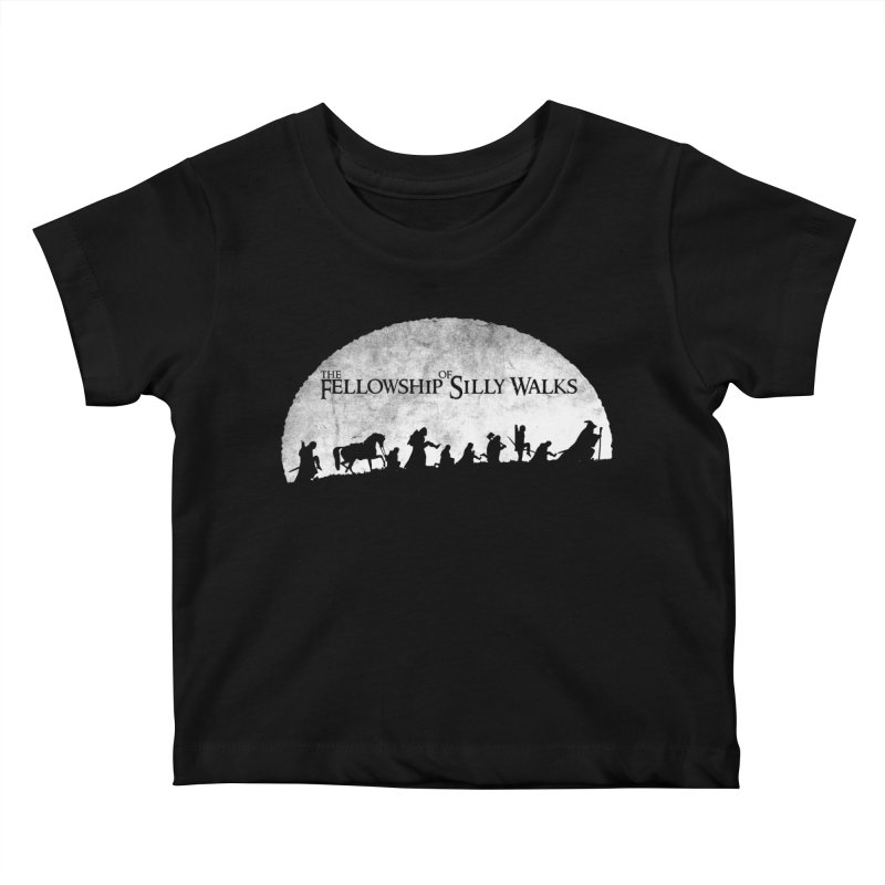 The Fellowship of Silly Walks Kids Baby T-Shirt by ikado's Artist Shop
