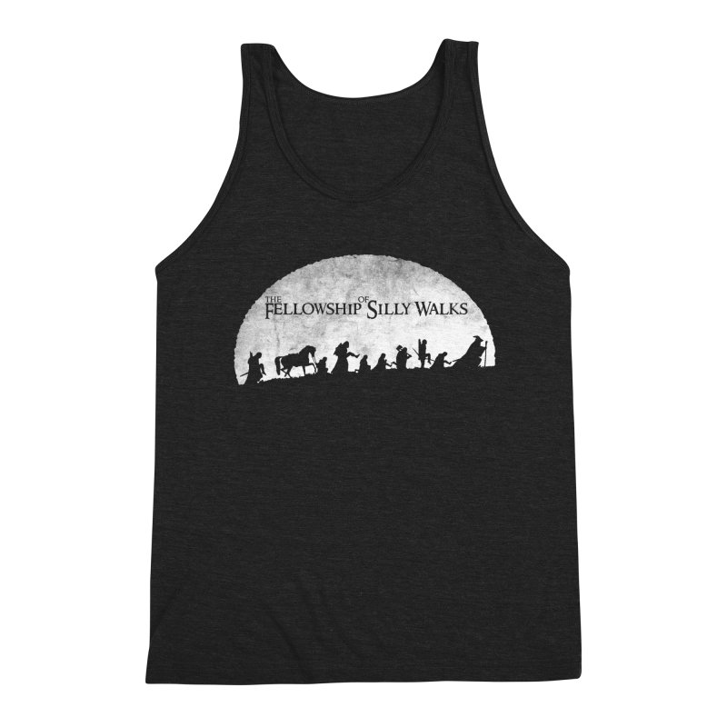 The Fellowship of Silly Walks Men's Triblend Tank by ikado's Artist Shop