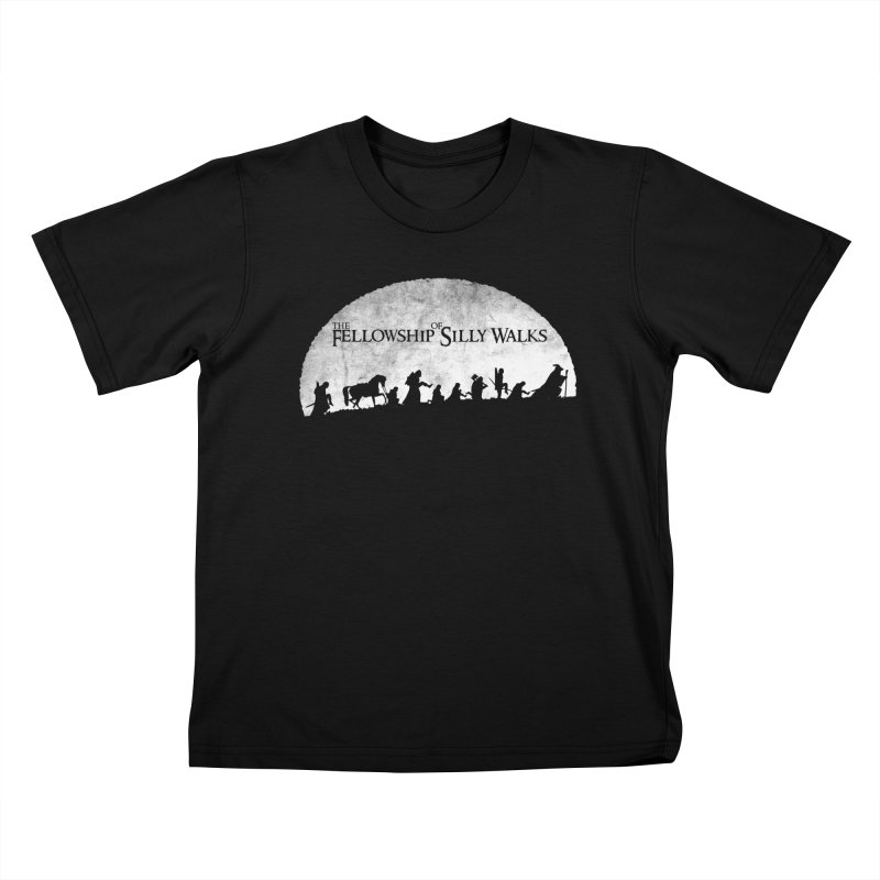 The Fellowship of Silly Walks Kids T-Shirt by ikado's Artist Shop