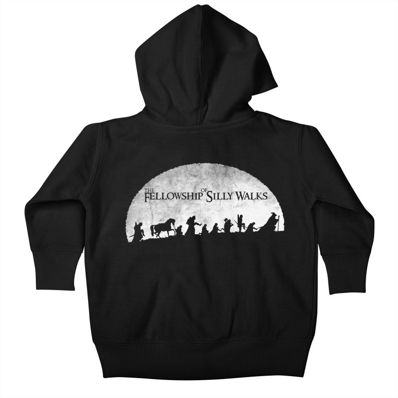 The Fellowship of Silly Walks Kids Baby Zip-Up Hoody by ikado's Artist Shop