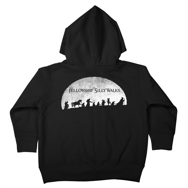The Fellowship of Silly Walks Kids Toddler Zip-Up Hoody by ikado's Artist Shop