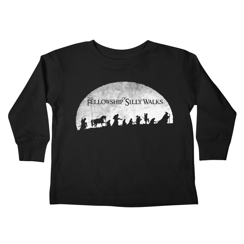 The Fellowship of Silly Walks Kids Toddler Longsleeve T-Shirt by ikado's Artist Shop