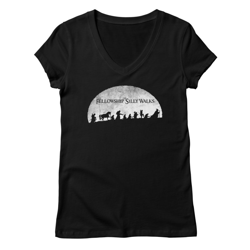 The Fellowship of Silly Walks Women's V-Neck by ikado's Artist Shop