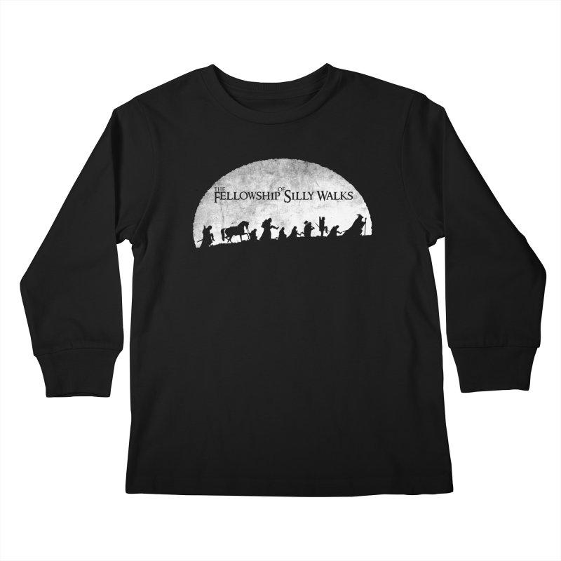The Fellowship of Silly Walks Kids Longsleeve T-Shirt by ikado's Artist Shop