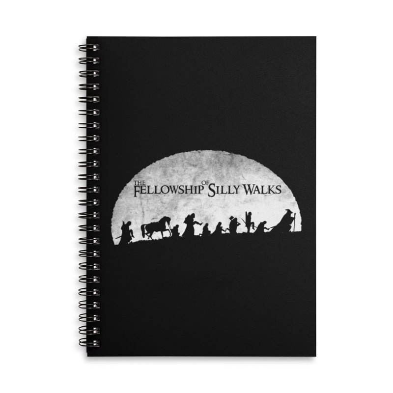 The Fellowship of Silly Walks Accessories Lined Spiral Notebook by ikado's Artist Shop