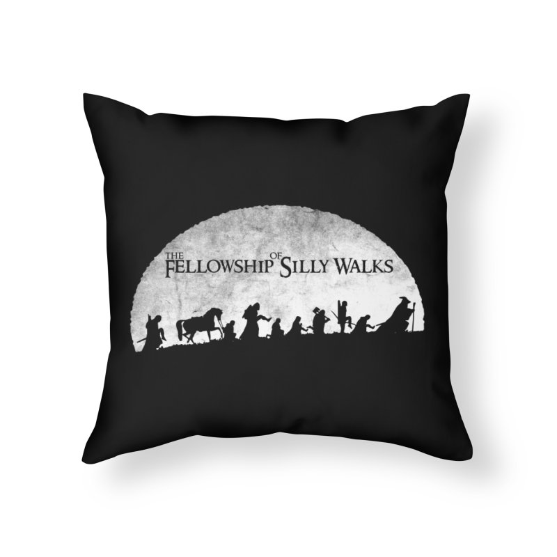 The Fellowship of Silly Walks Home Throw Pillow by ikado's Artist Shop