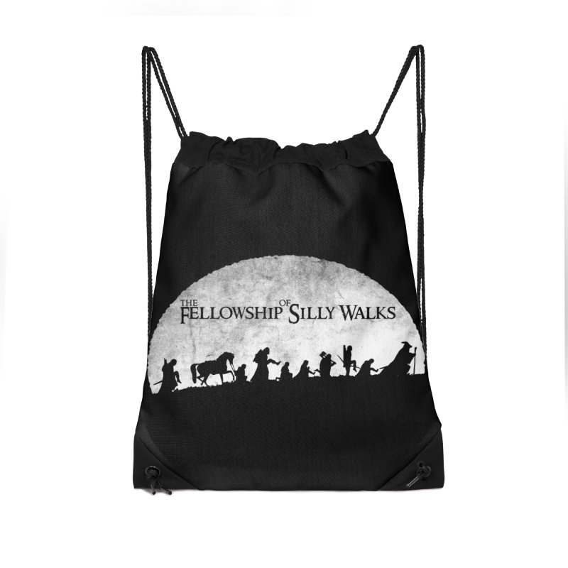 The Fellowship of Silly Walks Accessories Drawstring Bag Bag by ikado's Artist Shop
