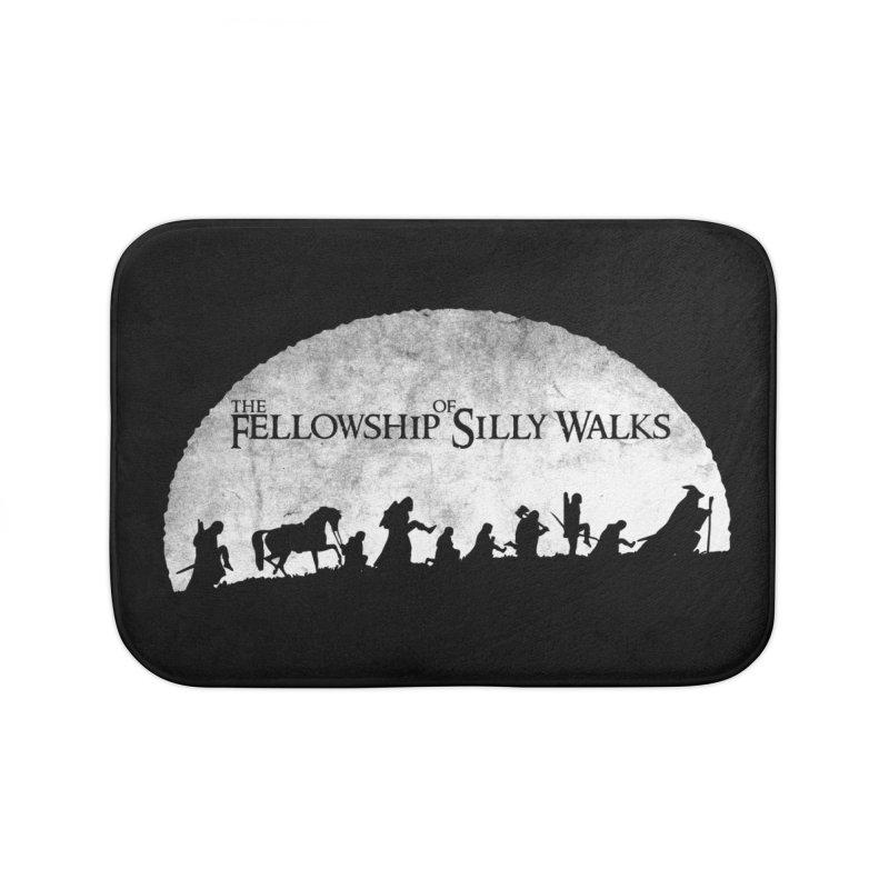 The Fellowship of Silly Walks Home Bath Mat by ikado's Artist Shop