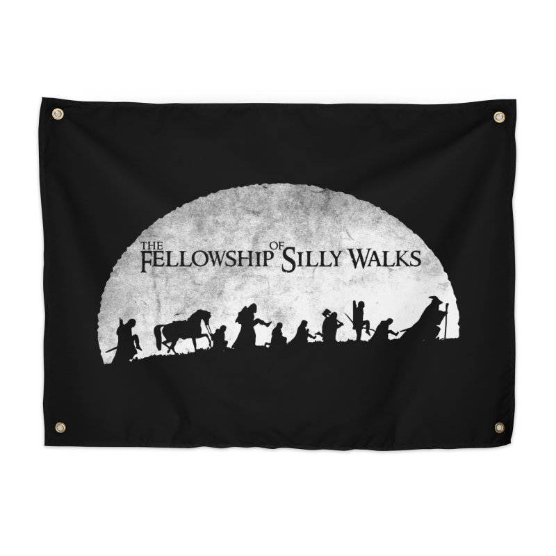 The Fellowship of Silly Walks Home Tapestry by ikado's Artist Shop