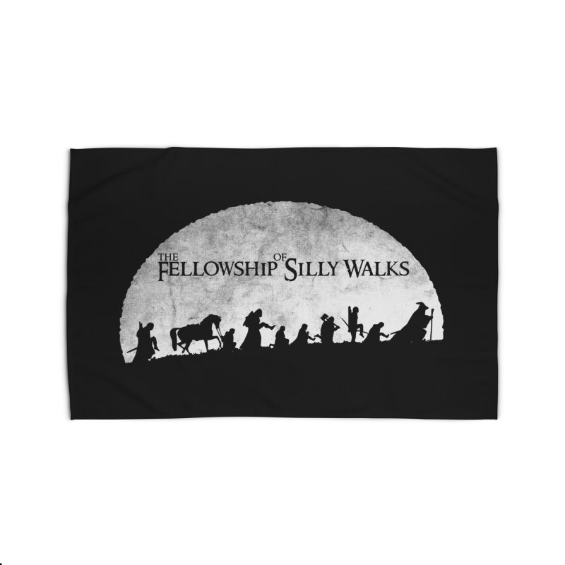 The Fellowship of Silly Walks Home Rug by ikado's Artist Shop